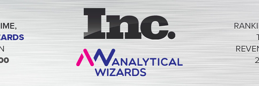 For the 2nd Time, Analytical Wizards Appears on the Inc. 5000